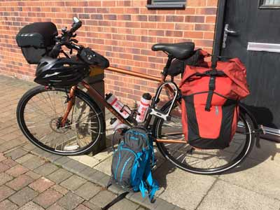 My fully loaded bike ready for LEJOG!