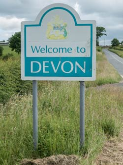 Devon country road sign