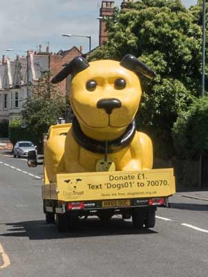 The Dog's Trust charity vehicle