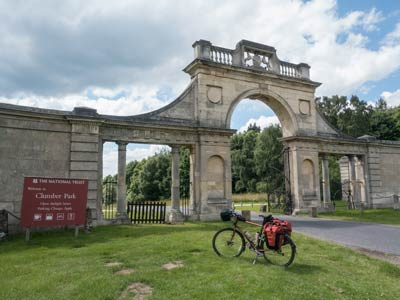 The entrance to Clumber Park