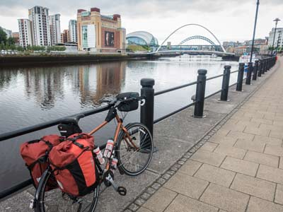 On the river Tyne waterfront in Newcastle