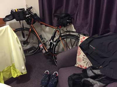 Storing my bike overnight in my hotel room