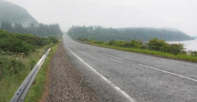 The A9, where it passes over the River Fleet